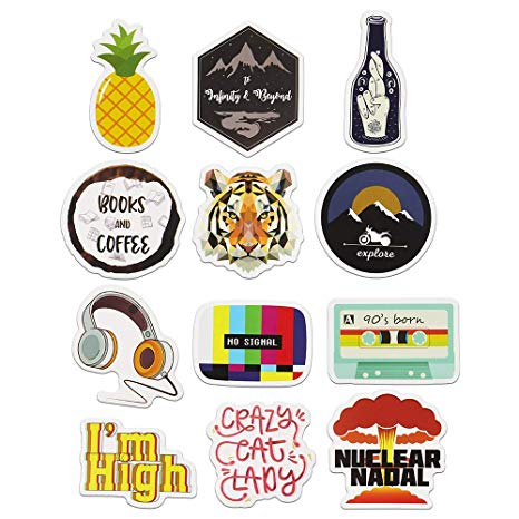 Cute Aesthetic Stickers for Laptop, Car, Hydro Flask, Water Bottle Decal  Sticker Pack(12pcs).