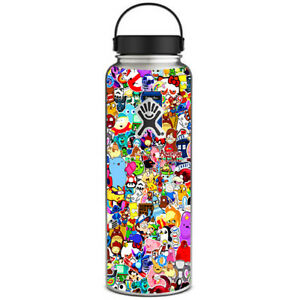 Details about Skin Decal for Hydro Flask 40 oz Wide Mouth / Sticker  collage,sticker pack.