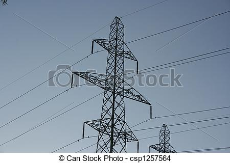 Stock Photo of Hydro Lines.