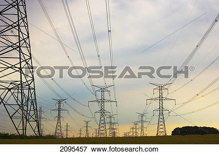 Picture of Hydro lines; ontario canada 2095457.