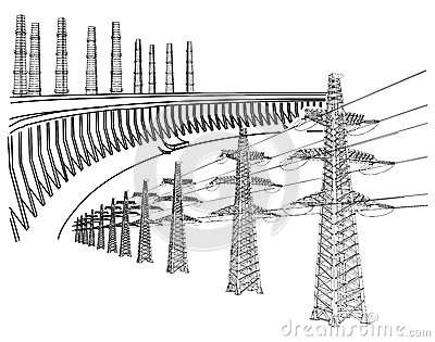 Power Transmission Line Stock Photography.