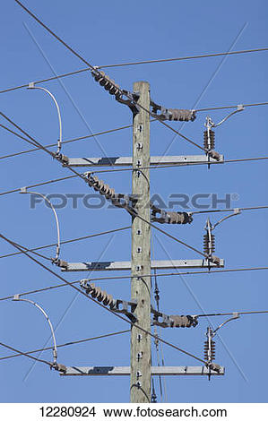Stock Photo of Hydro lines; Brampton, Ontario, Canada 12280924.