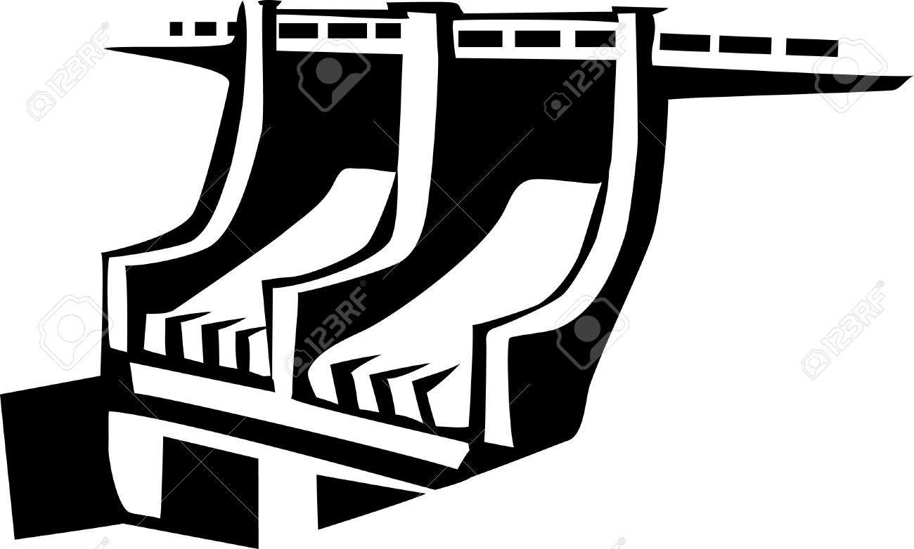 Hydroelectric dam clipart.