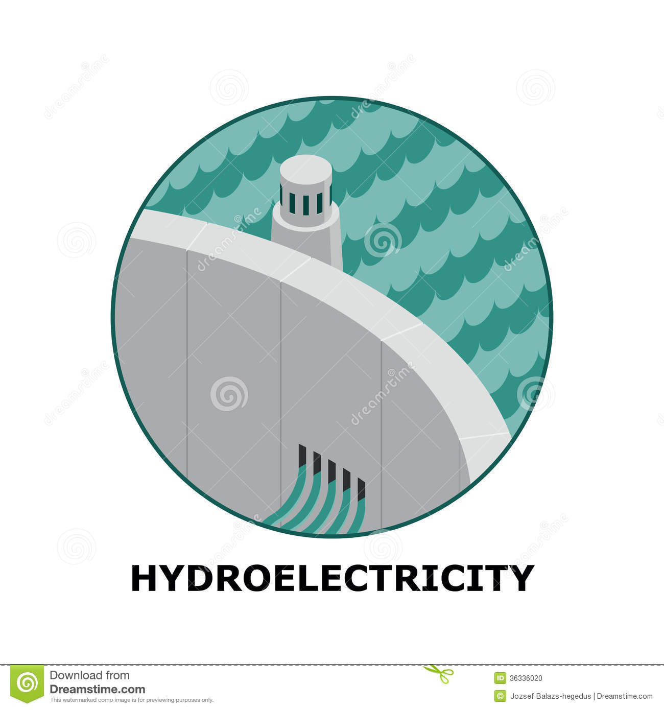 Hydroelectricity Stock Illustrations.