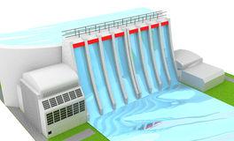 Hydro Power River Stock Illustrations.
