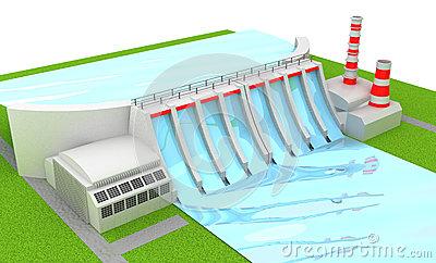 Power Station Stock Illustration.