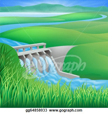 Hydroelectric Power Clipart.