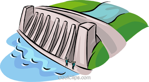 Hydroelectricity clipart.