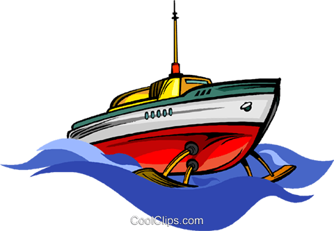 hydrofoil Royalty Free Vector Clip Art illustration.