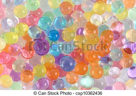 Stock Photos of coloured hydrogel.