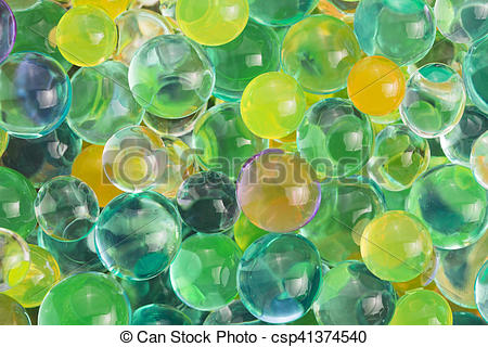 Stock Photo of Color balls, hydrogel beads csp41374540.
