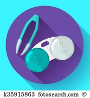 Silicone hydrogel Clipart Royalty Free. 4 silicone hydrogel clip.