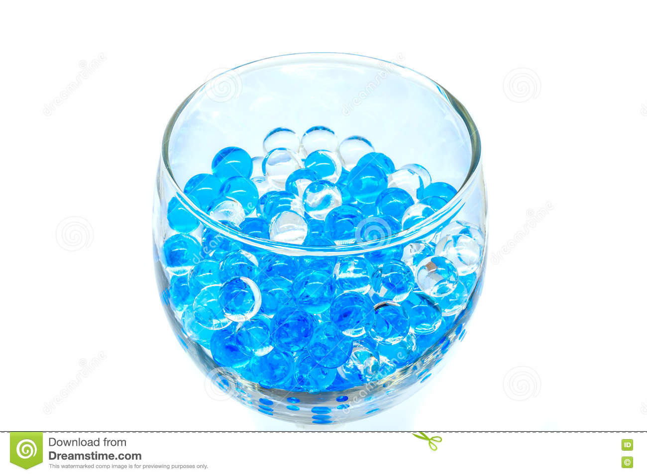 Polymer Gel. Gel Balls. Balls Of Blue And Transparent Hydrogel.