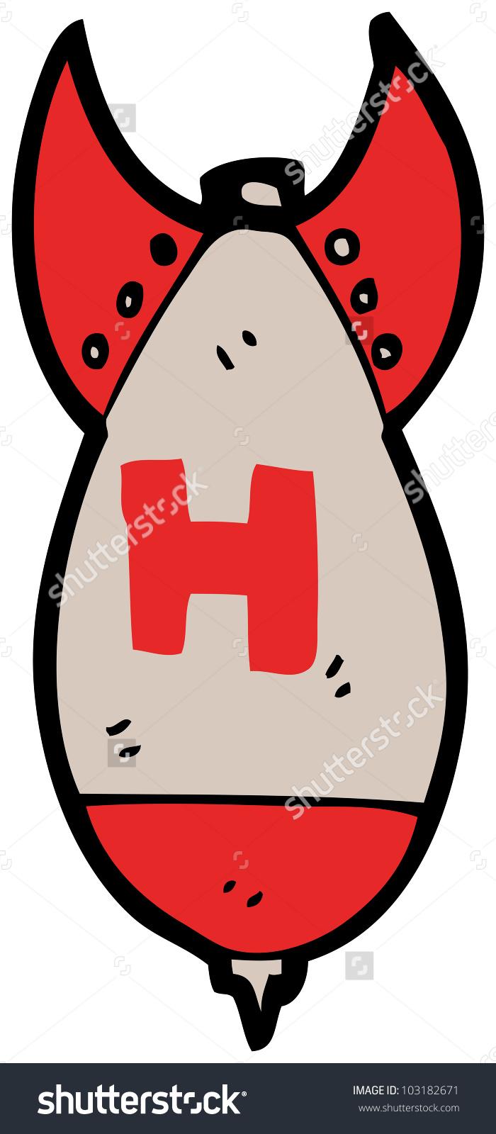 Cartoon H Bomb Stock Photo 103182671.
