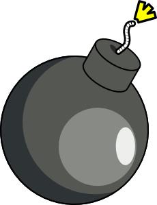 Funny cute bomb clipart.
