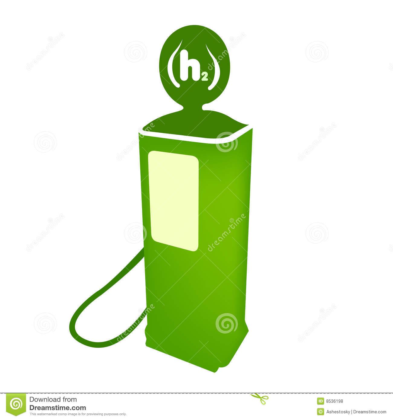 Hydrogen Clean Fuel Pump Vector Royalty Free Stock Photos.