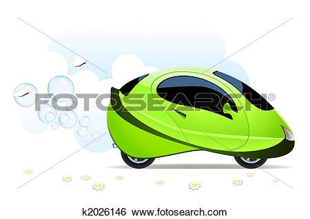 Stock Illustration of Hydrogen car concept k2026146.