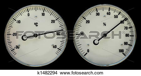 Stock Photo of Thermometer and hydrometer k1482294.
