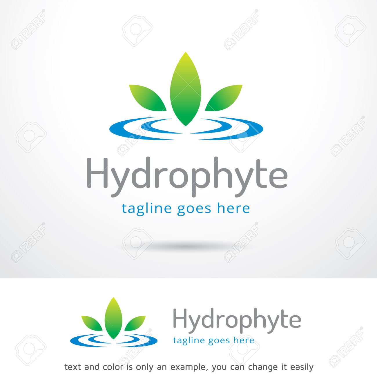 Hydrophyte Template Design Vector Royalty Free Cliparts, Vectors.