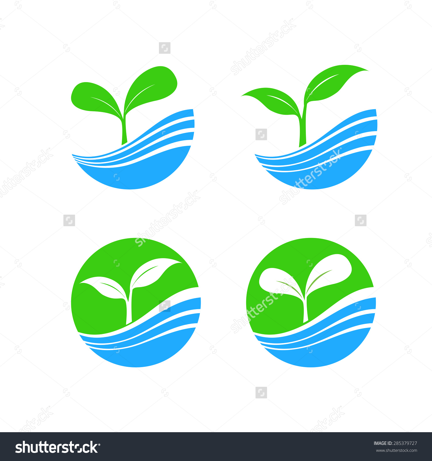 Circle Shape Logo Element Nature Plant Stock Vector 285379727.