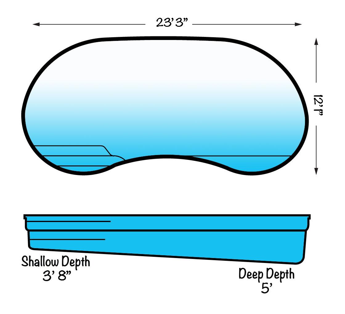 Kidney Blue Hawaiian Fiberglass Pools ⋆ Blue Hawaiian Inground.