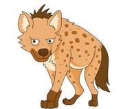 Free Hyena Clipart.