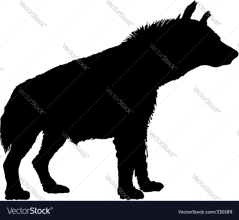 Hyena silhouette Royalty Free Vector Image.