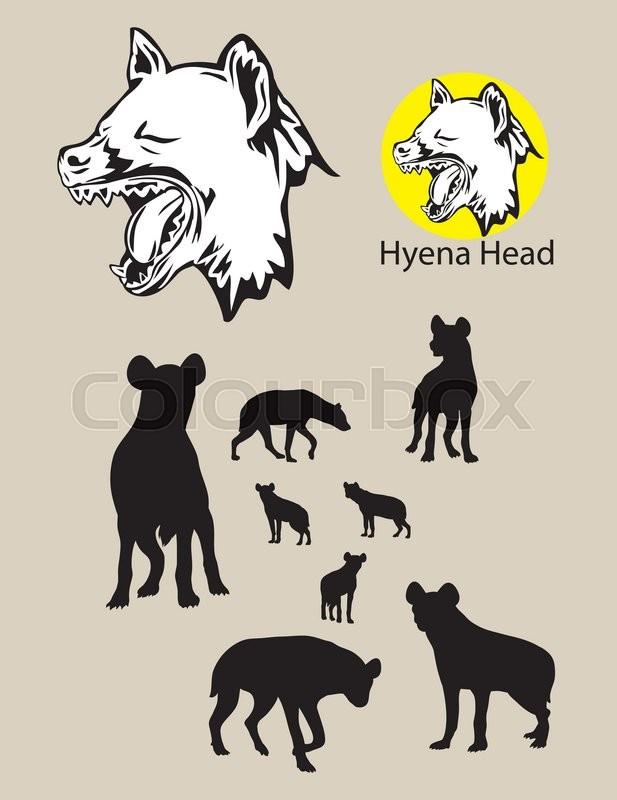 Hyena Silhouette and Logo, art vector design.