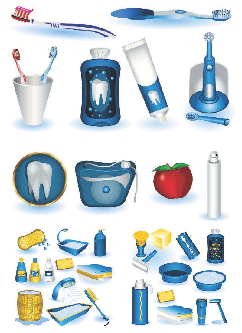 Personal Hygiene Kit Clip Art.