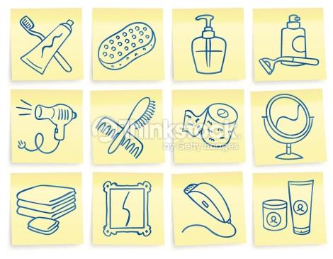 Hygiene kit clipart.