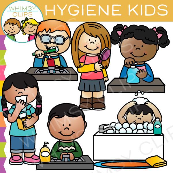 Hygiene Kids Clip Art , Images & Illustrations.