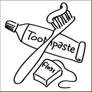 Clip Art: Dental Hygiene B&W I abcteach.com.
