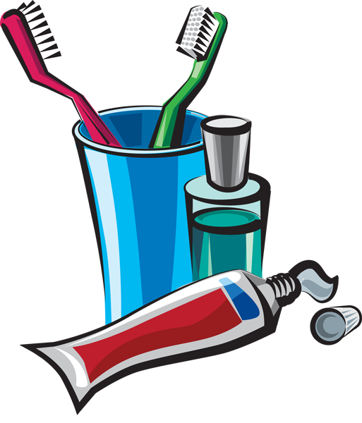 Personal hygiene products clipart.