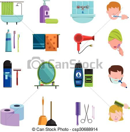 Personal care products Clipart Vector and Illustration. 533.