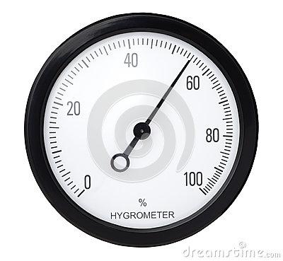 Hygrometer Royalty Free Stock Image.