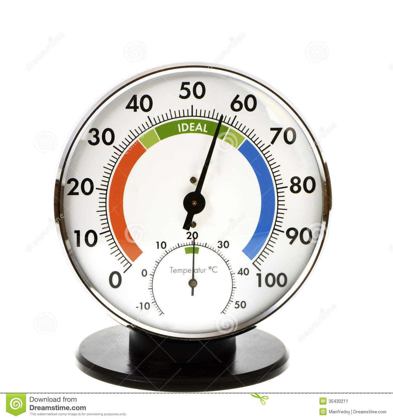 Hygrometer And Thermometer Stock Image.