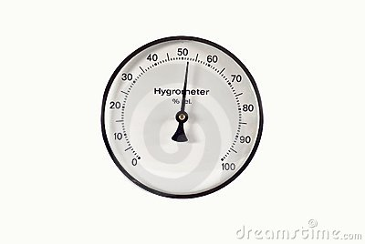 Classic Thermometer & Hygrometer Royalty Free Stock Photos.