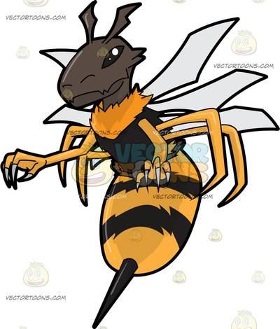 Hymenopterous insect clipart #4