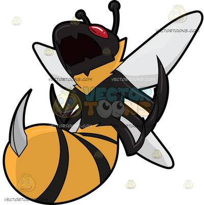 hymenopterous insect Cartoon Clipart.