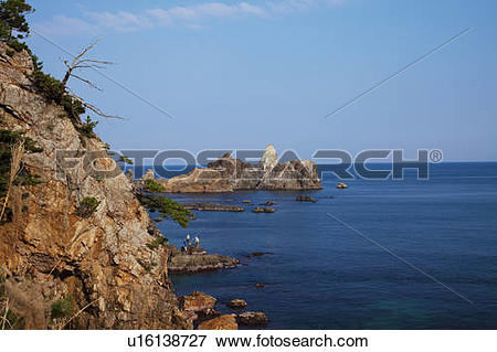 Picture of Anami coastline, Hyogo Prefecture, Honshu, Japan.