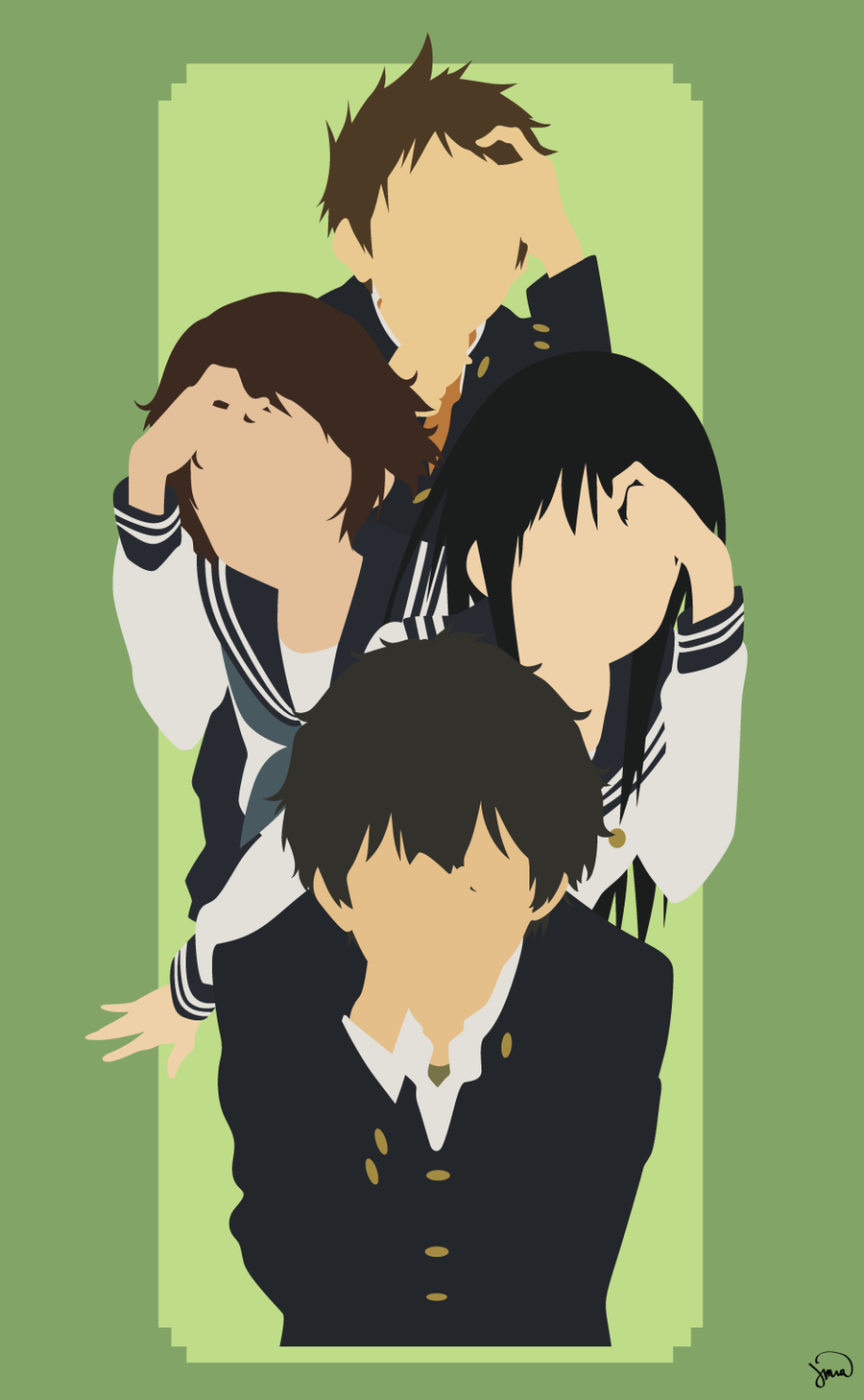 Hyouka by greenmapple17 on DeviantArt.