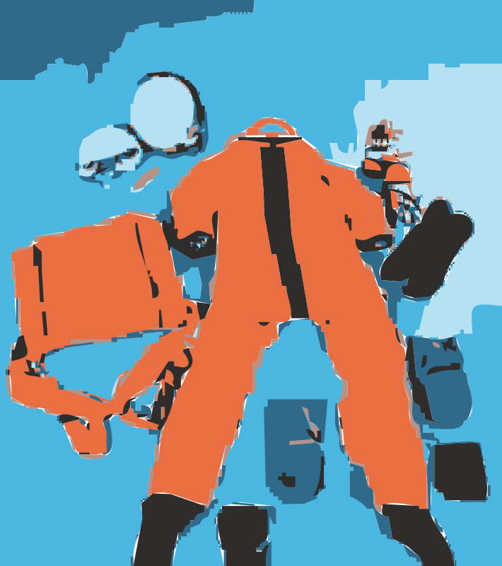 Free Clipart: NASA flight suit development images 351.
