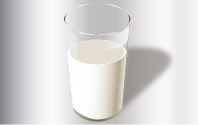 Hyper Real Glass of Milk, Vector File.