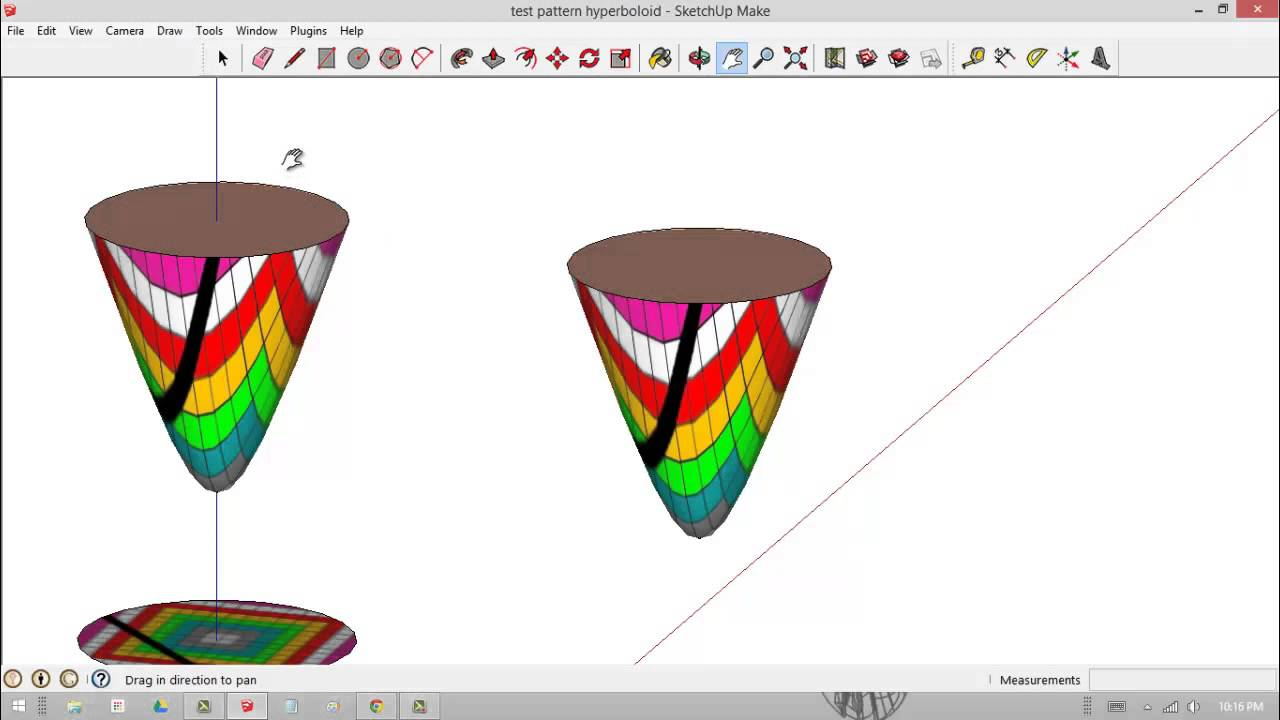 How to make a 2D hyperbola into a 3D hyperboloid part 2 and.