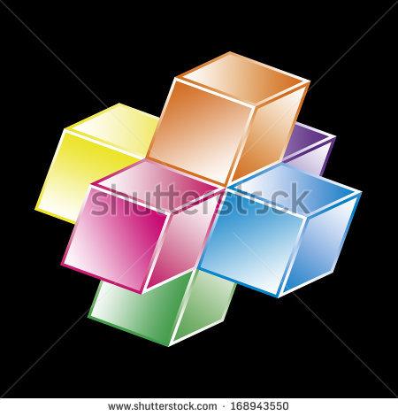 Hypercube Stock Photos, Royalty.