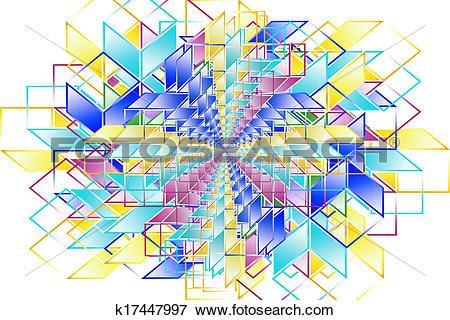 Stock Illustration of hypercube 1.