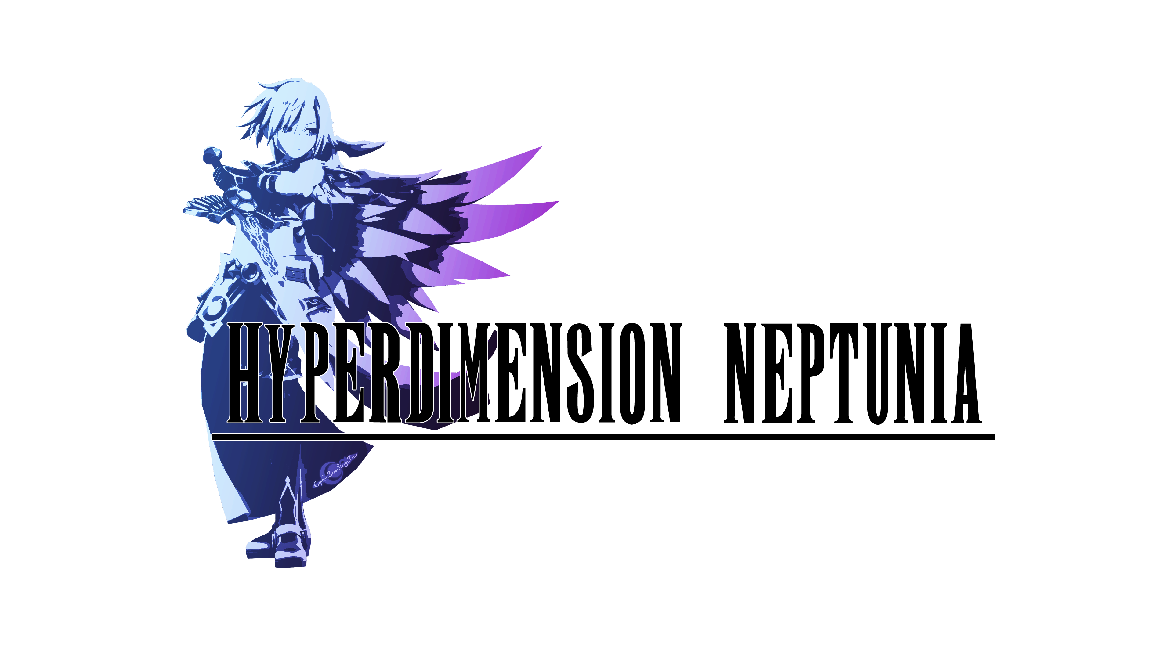 Hyperdimension Neptunia logo, but it\'s in the style of Final.