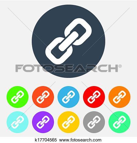 Clipart of Link sign icon. Hyperlink symbol. k17704565.