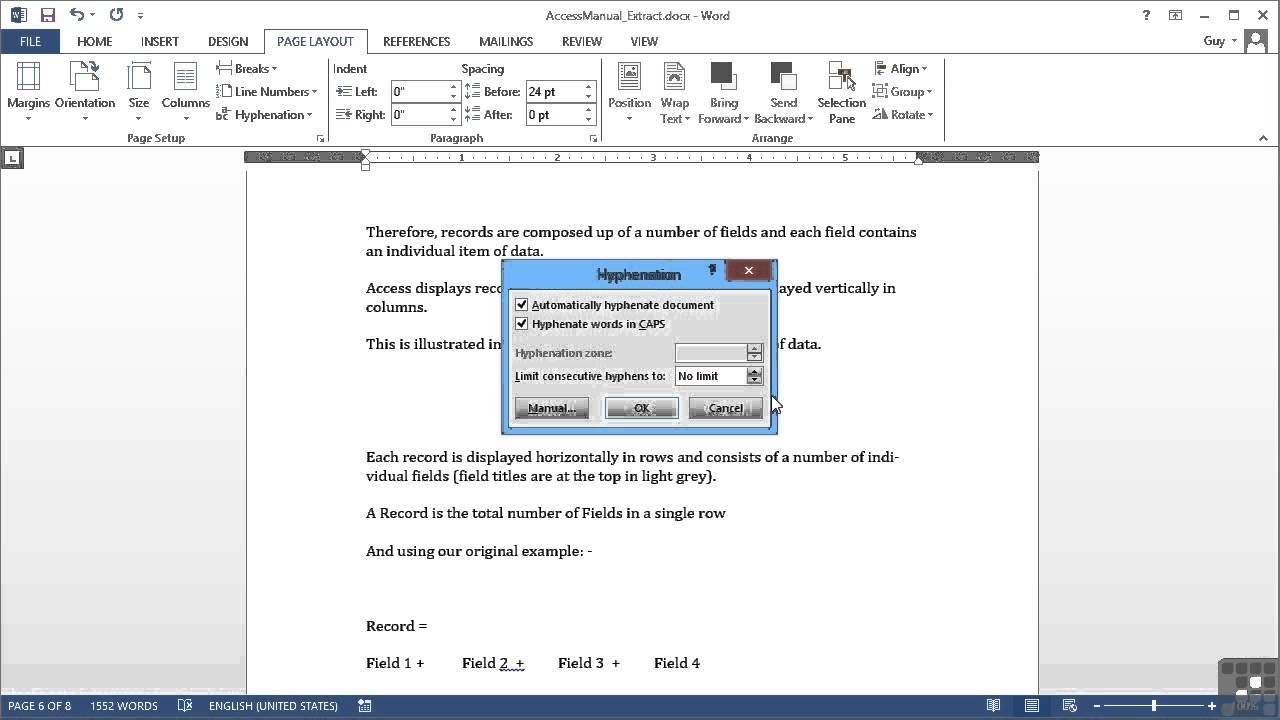 Microsoft Word 2013 Tutorial.