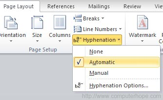 What is hyphenation?.